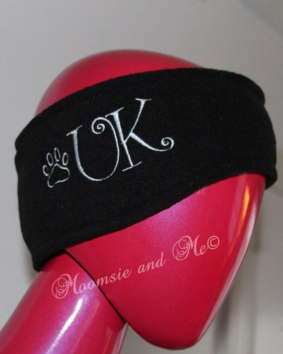 fleece monogrammed headbands personalized by moomsieandme on etsy
