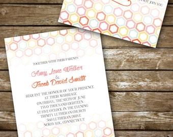 Hexagon Wedding Invitation Set