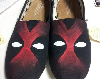 Toms Shoes Customized Deadpool