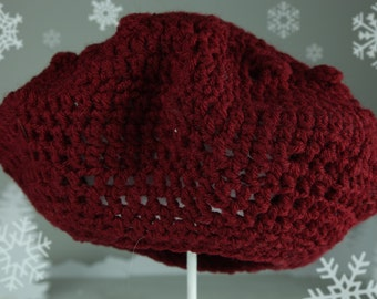 Beret for woman, handmade by Créations Tricotine