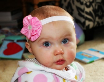 Pretty in Pink Fabric Flower Headband