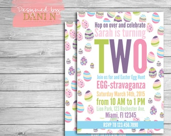 Easter Party Invitation, easter birthday, egg hunt, kids birthday invite, egg brunch, easter egg hunt party invite, Printable DIY digital