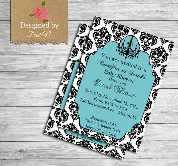 Tiffany Baby Shower Invitation Tiffany Baby By DesignedbyDaniN