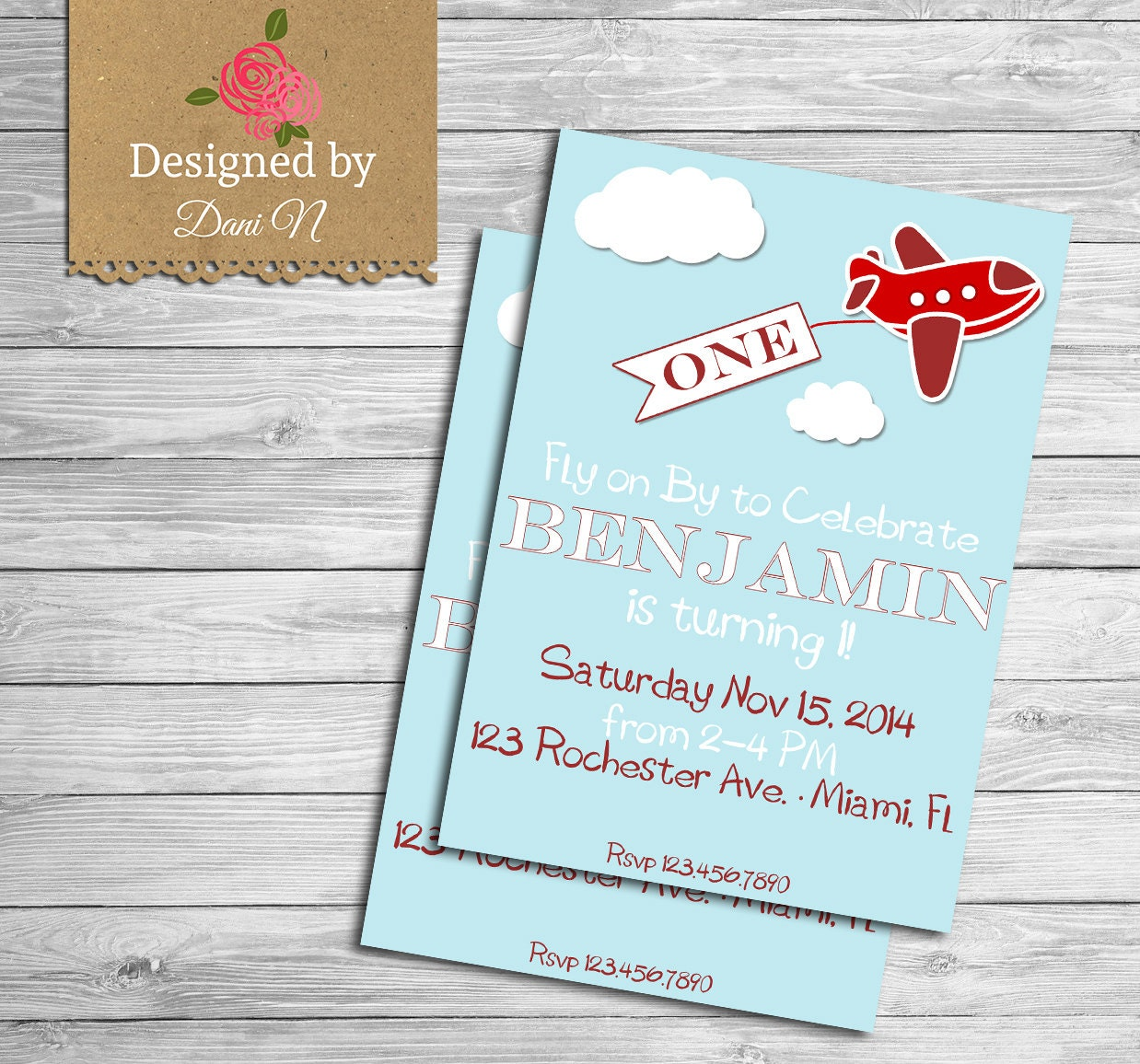 Printable Vintage Airplane Party Collection Diy By: Airplane Birthday Invitation Printable Party Invite Red