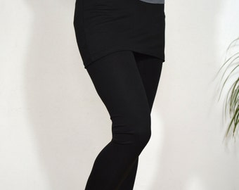 Yoga leggings in black/skirt leggings/ long leggings.