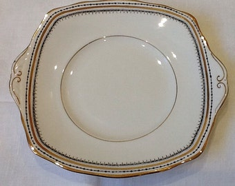 Vintage Sandwich Plate, Royal Albert Crown China Serving Plate