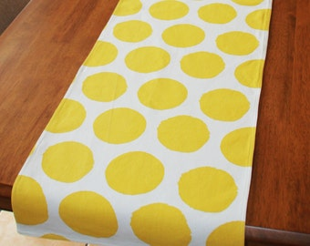 Table Runner Yellow Spots 37 X 150 cm