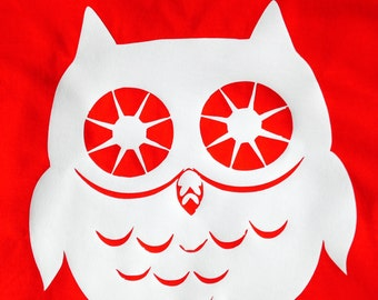 Ladies customised owl t-shirt