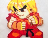 Pocket Fighter Sprites Akuma, Ryu, Ken Bead Sprites - Custom Order (in progress)
