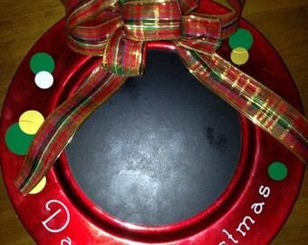 Countdown to Christmas Chalkboard Plate