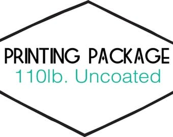10 ct. Printing: 110# Uncoated Cover Paper