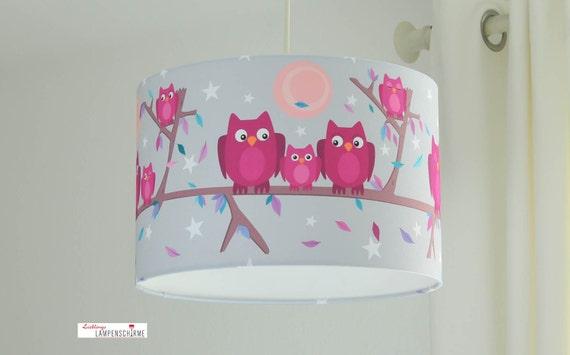 Paralume lampada bambini gufi di lieblingslampe su etsy for Lampadario bimbi