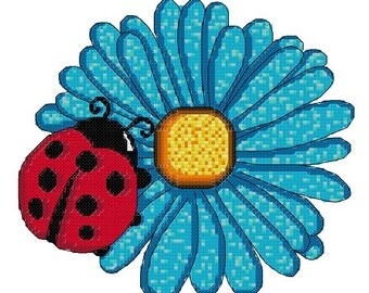 Cross stitch pattern Ladybug