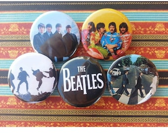 Set of 5 Beatles Pinback Buttons