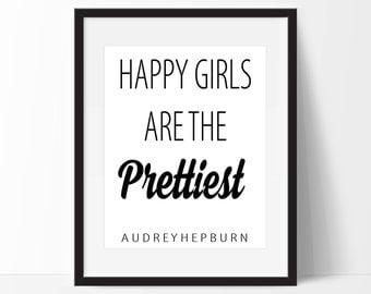 Audrey Hepburn Quote Art Print - Fashion Inspired Quote Art Print - Fashion Art - Wall Art