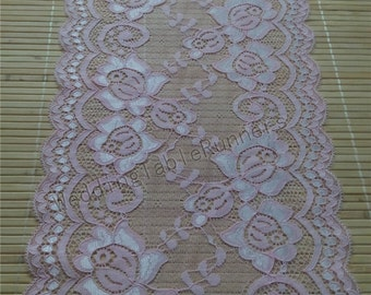 Blush Pink Lace Runner 8 Wedding Table Runner Lace