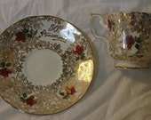 Elizabethan Fine Bone China Made in England, Saucer and Tea Cup Set, Very Collectible, Great Anniversary Gift, 50th Anniversary, Beautiful