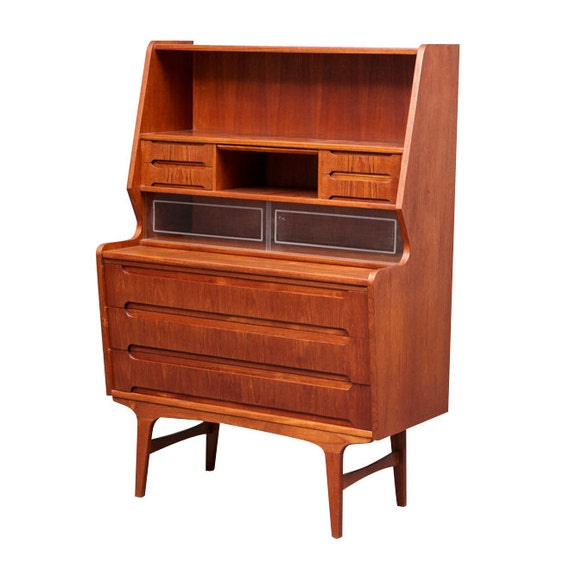 Secretaire bureau danish modern mid century by lack00danishlab - Bureau secretaire moderne ...