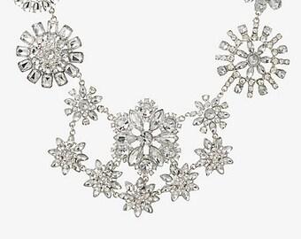 Statement Necklace. Rhinestone Necklace, Wedding necklace, bib necklace, Crystal necklace