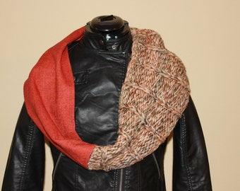 Highland Cowl--Orange Slipped Stitch