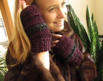 Guiltless mink gloves
