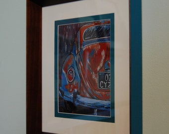 Framed Print, VW Beetle