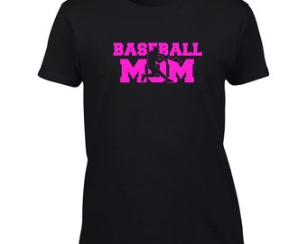 Baseball Mom T-Shirt Mens Womens Ladies Youth Kids Child Big And & Tall Funny Humor - Design 2B