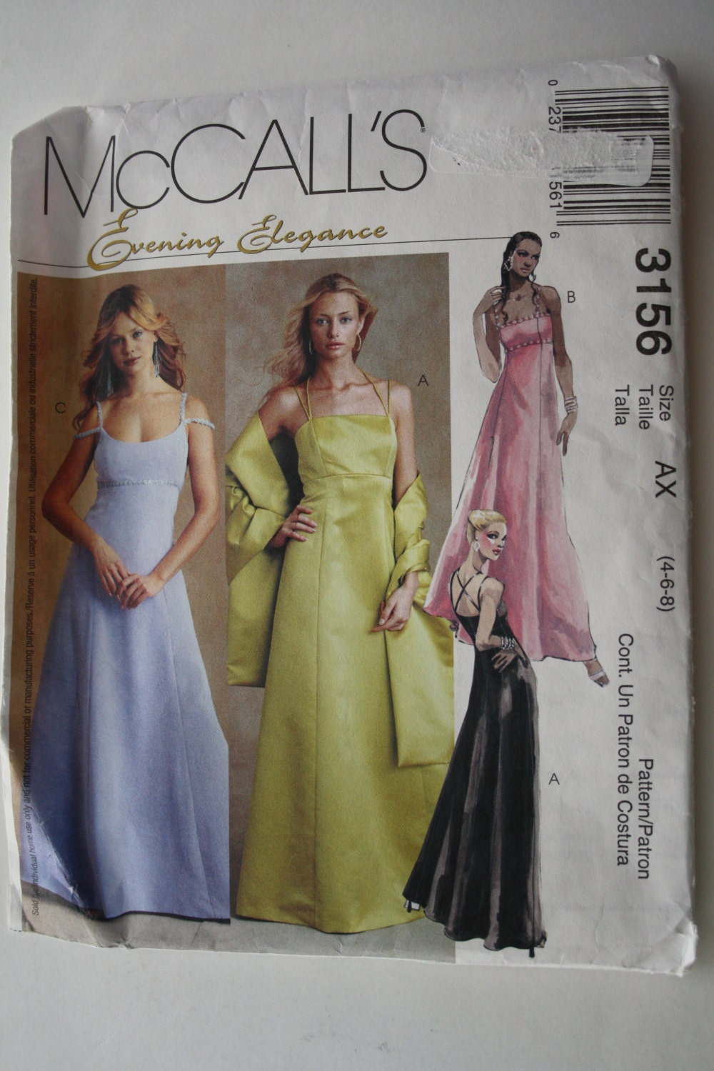 Bridesmaid dress pattern dress and stole sewing pattern evening 825 ombrellifo Image collections