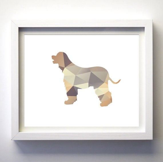 Diy Dog Wall Decor : Items similar to geometric dog printable instant download