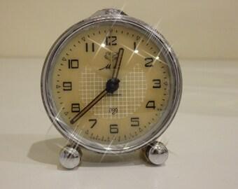 SALE 35% OFF - Soviet Vintage small alarmclock - Mir alarm clock - USSR