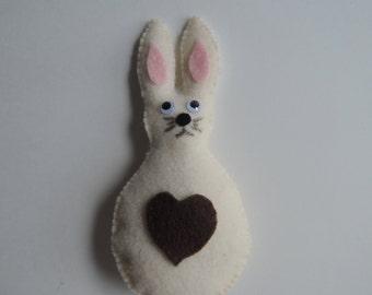 Rabbit ornament, felt decoration