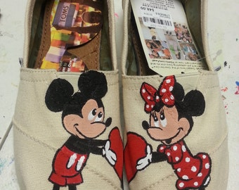 Mickey And Minnie Mouse custom TOMS