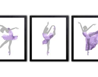 Teenage Girl Wall Art - Baby Girl Nursery Art - Ballerina Nursery Art - Ballerina Bedroom Art - Ballet Nursery Art - DS18