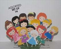 Princess Cupcake Toppers - Princess Birthday Party Favors - Princess Birthday Party Decor - Princess Birthday Party Favors - Treat Toppers