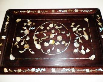 131--Antique Chinese Ming Dy. Hainan Huanghuali 海南黄花梨 tea tray