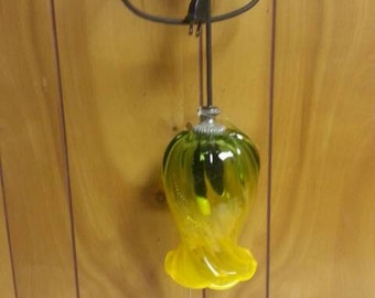 Green & Yellow Flower Hanging Pendant Light
