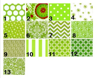 Green Print Window Curtains- Pair Of 50 Inch Wide Drapery Panels