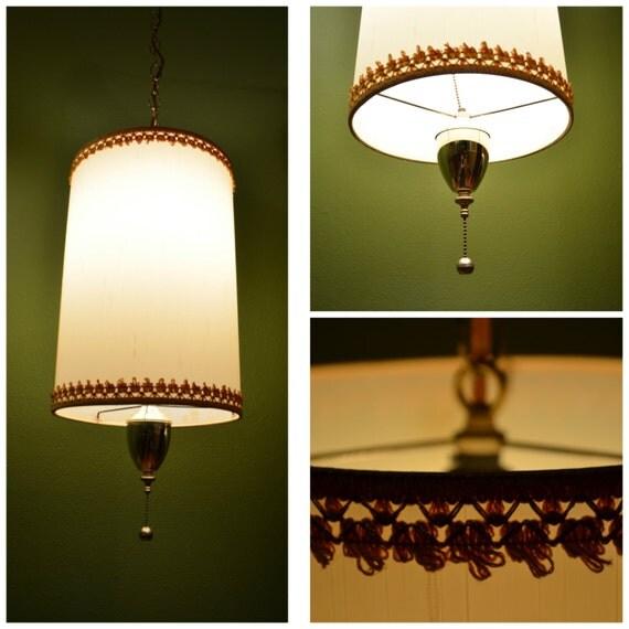 Mid Century Swag Lamp: Vintage Mid Century Swag Pendant Lamp Retro Pendant