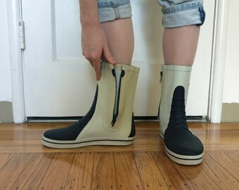 RARE West Marine Rain Boots