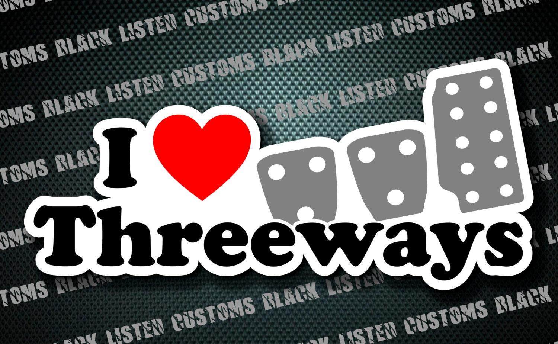 I Heart Threeways Manual Stick Shift Funny Custom Vinyl Jdm