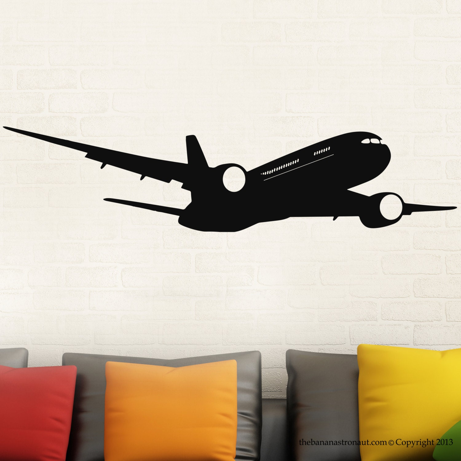 Airplane Boeing Wall Modern Decal Stickers Decor Easy