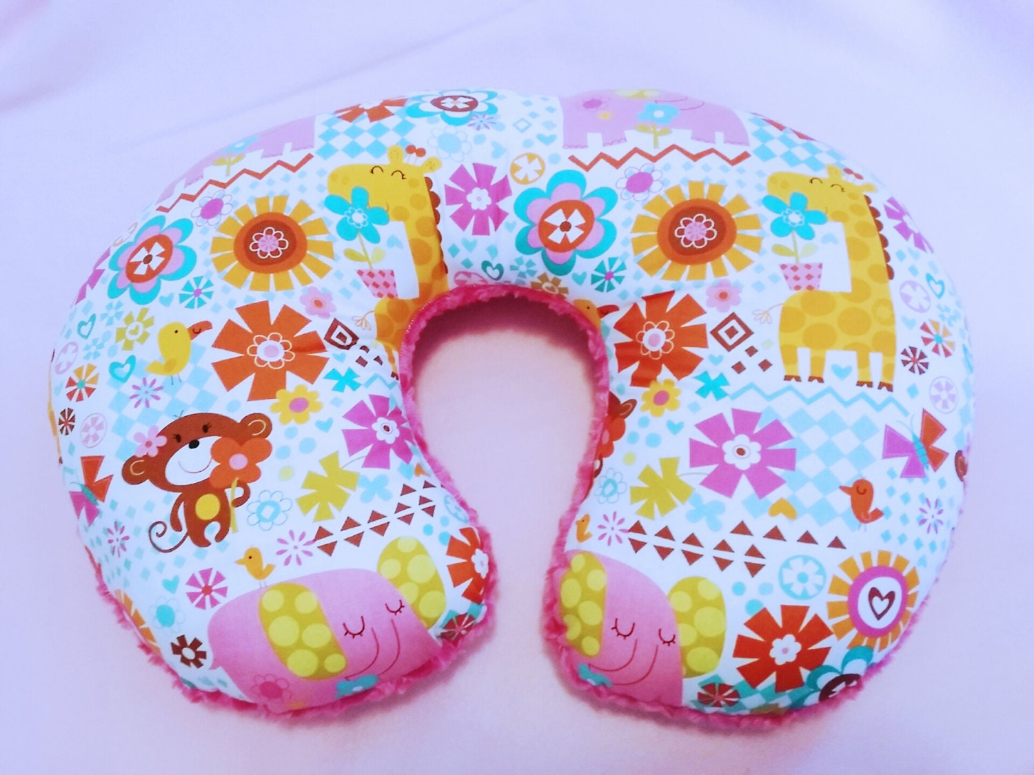 Cute Boppy Pillows : Baby Girl Animal Boppy Pillow Not A Case Pink by Happynightowls