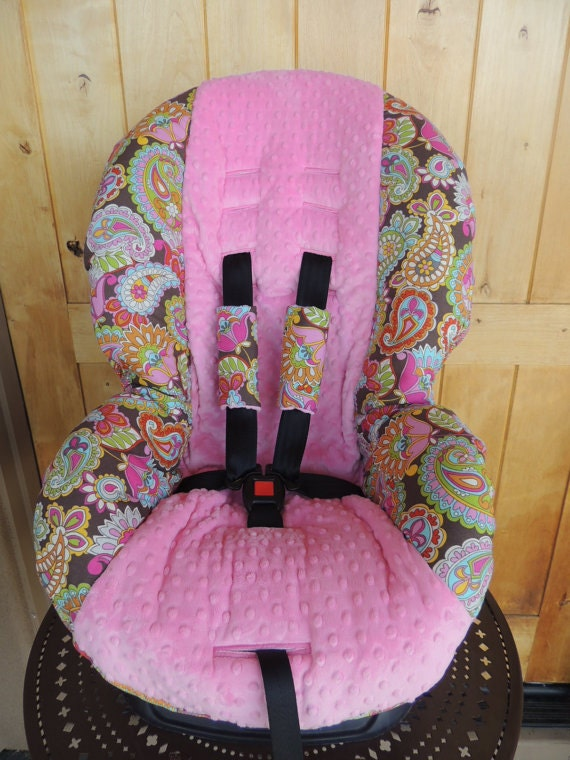 britax marathon toddler car seat cover pink paisley by isewtwo. Black Bedroom Furniture Sets. Home Design Ideas