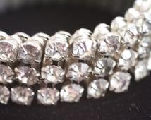 Vintage Sparkly Rhinestone Stretch Bracelet