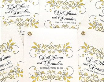 Unique Wedding Programs - Wedding Fan Program - Vintage Wedding Programs - Wedding Programs