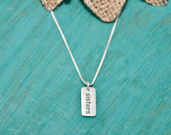Sterling silver sister necklace | necklace for sisters | Gift for Sister