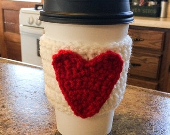 Heart Cozy- MADE TO ORDER, Crochet