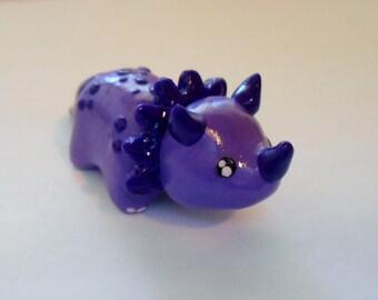 Triceratops Figurine - Purple