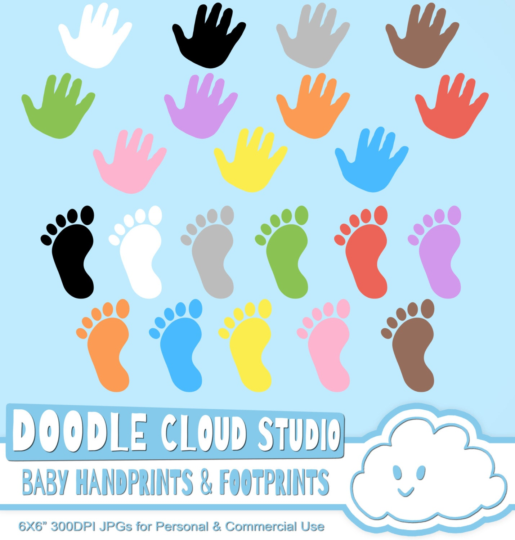 free baby handprint clipart - photo #24