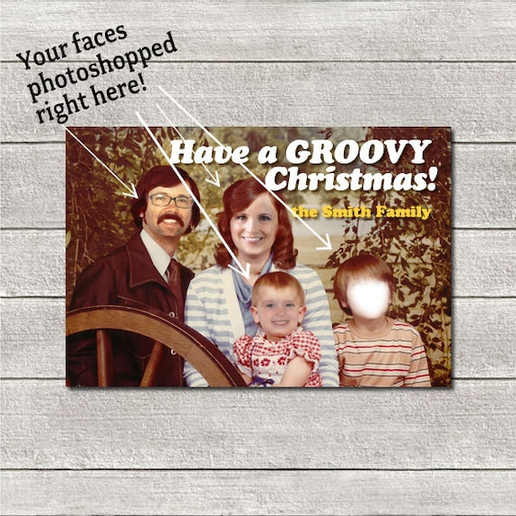 Funny Custom Christmas Card Holiday Card Photoshopped